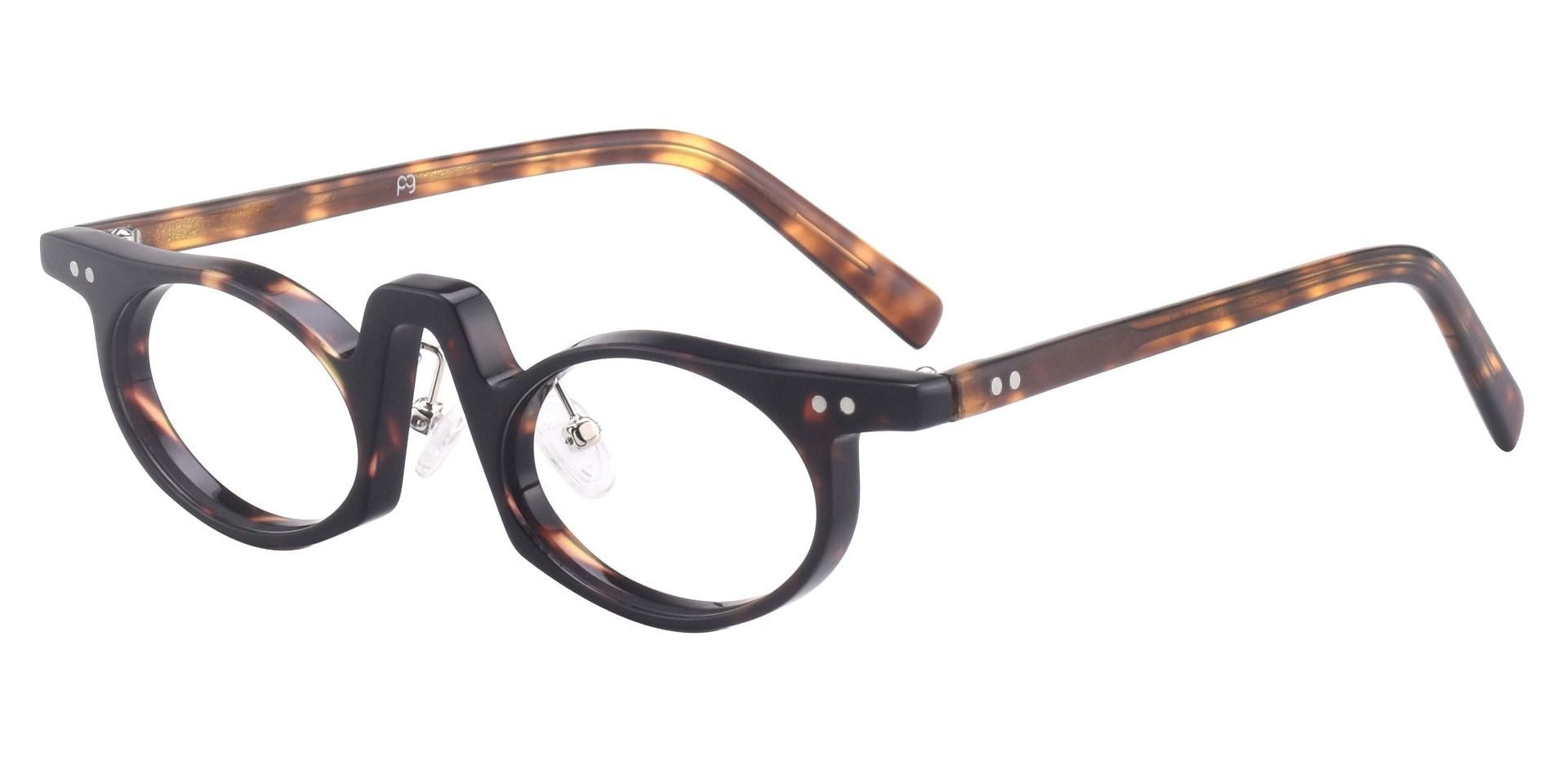 Hamlin Oval Single Vision Glasses - Tortoise