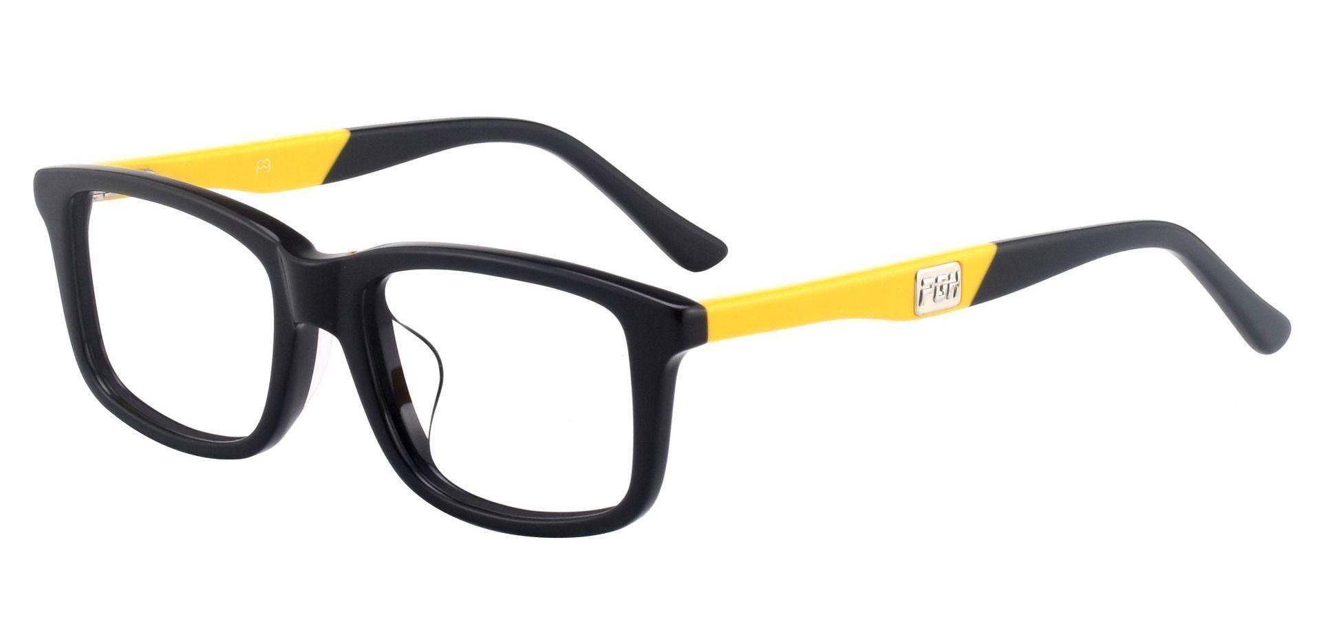 Rivers Rectangle Prescription Glasses - Black-yellow