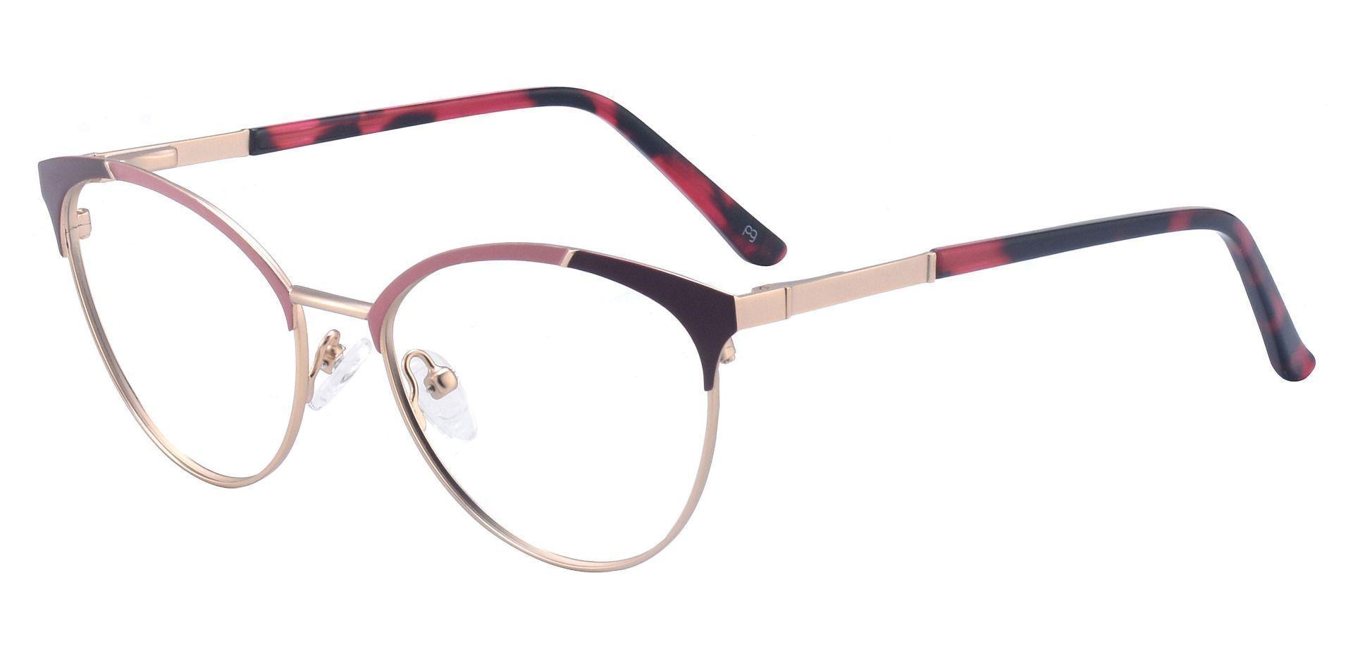 Lisette Oval Prescription Glasses - Red
