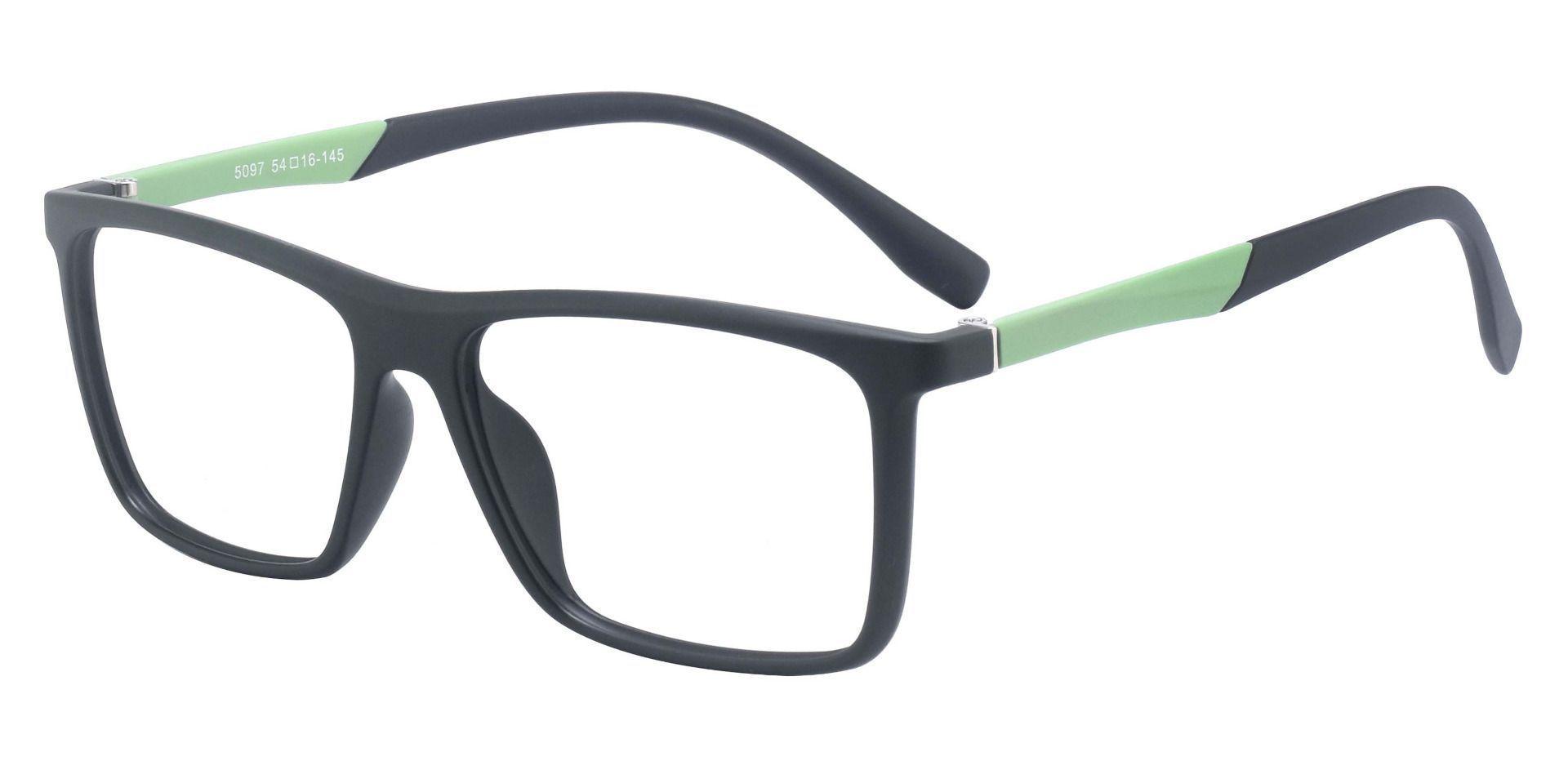 Cleveland Rectangle Prescription Glasses - Green