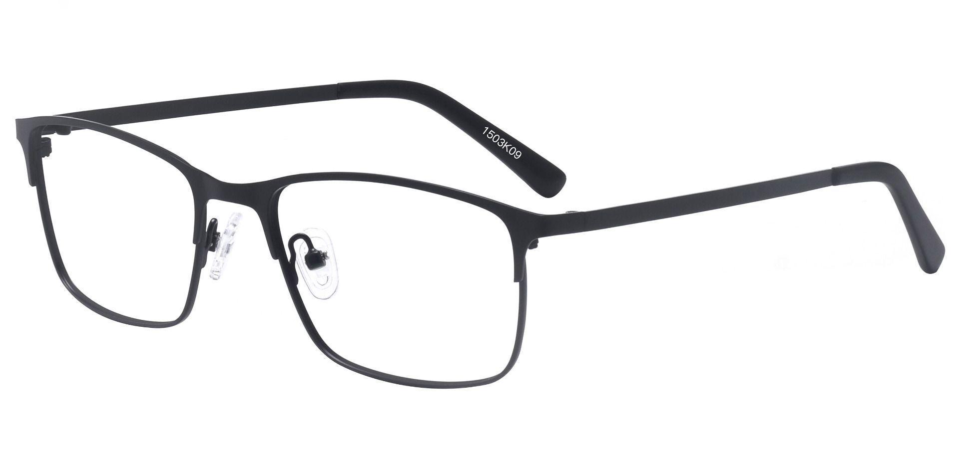 Zachary Rectangle Prescription Glasses - Black
