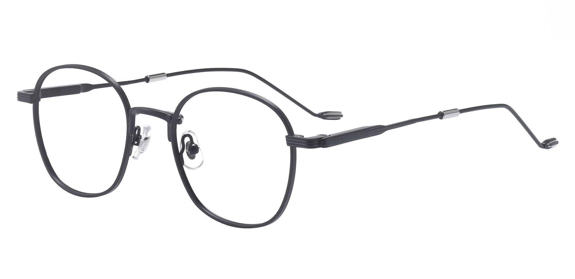 Watkins Oval Prescription Glasses - Black