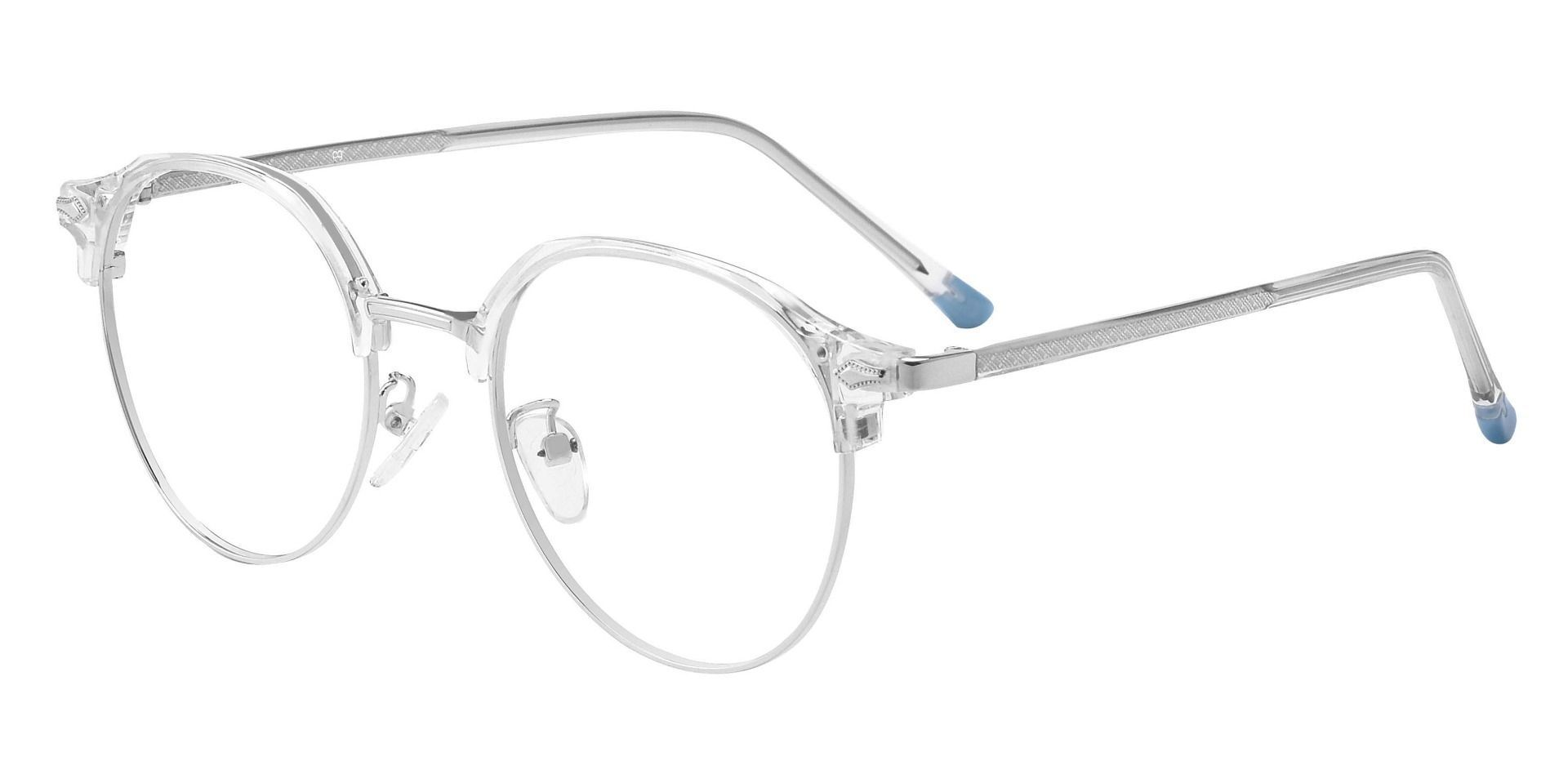 Maynard Browline Prescription Glasses - Silver