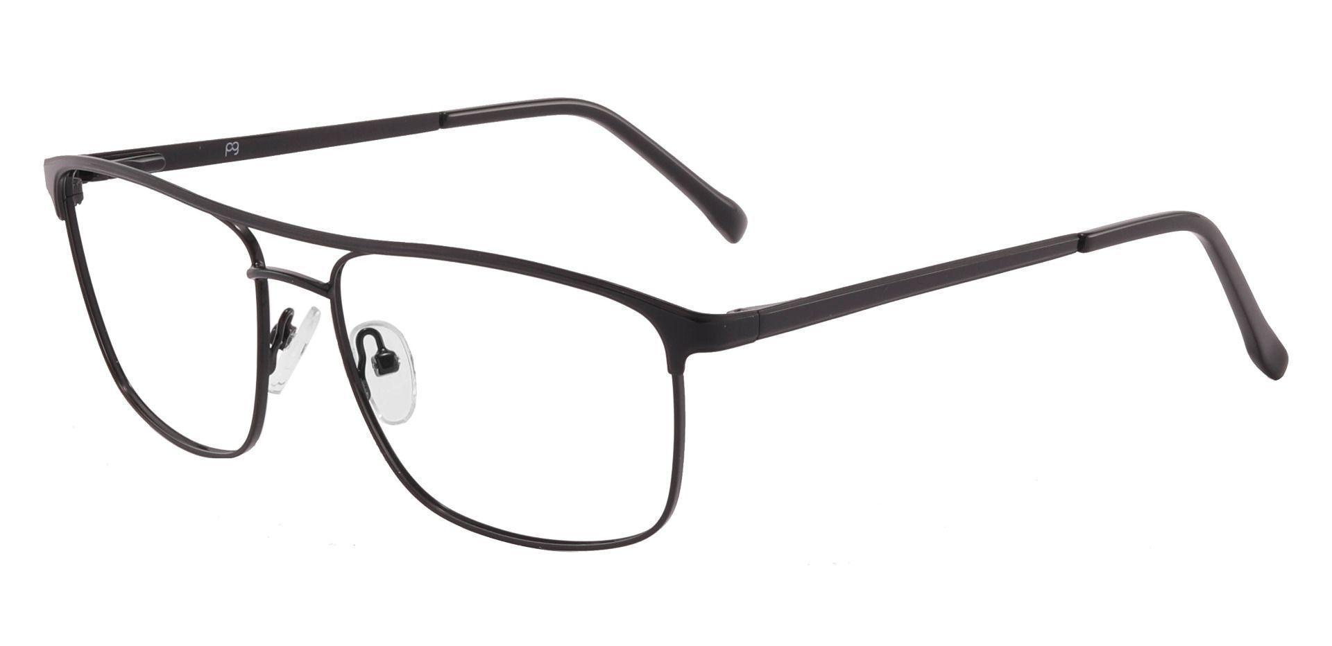 Darren Aviator Prescription Glasses - Black