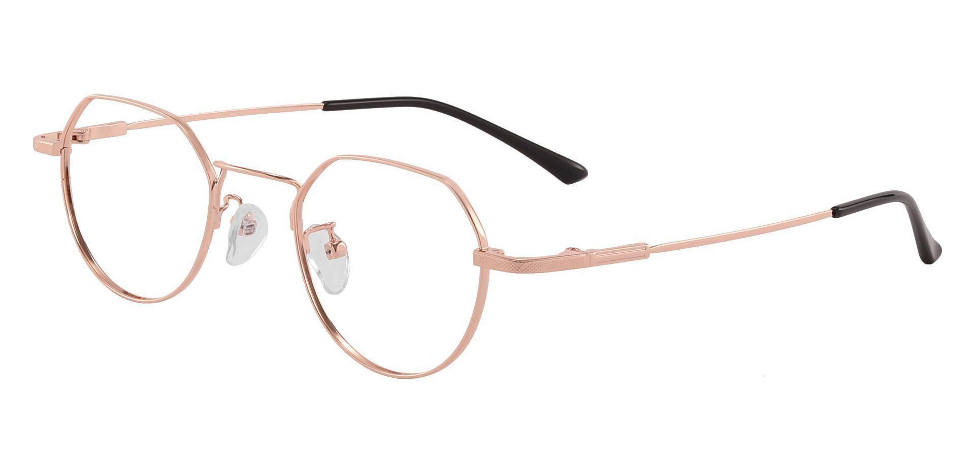 Douglas Geometric Prescription Glasses - Rose Gold