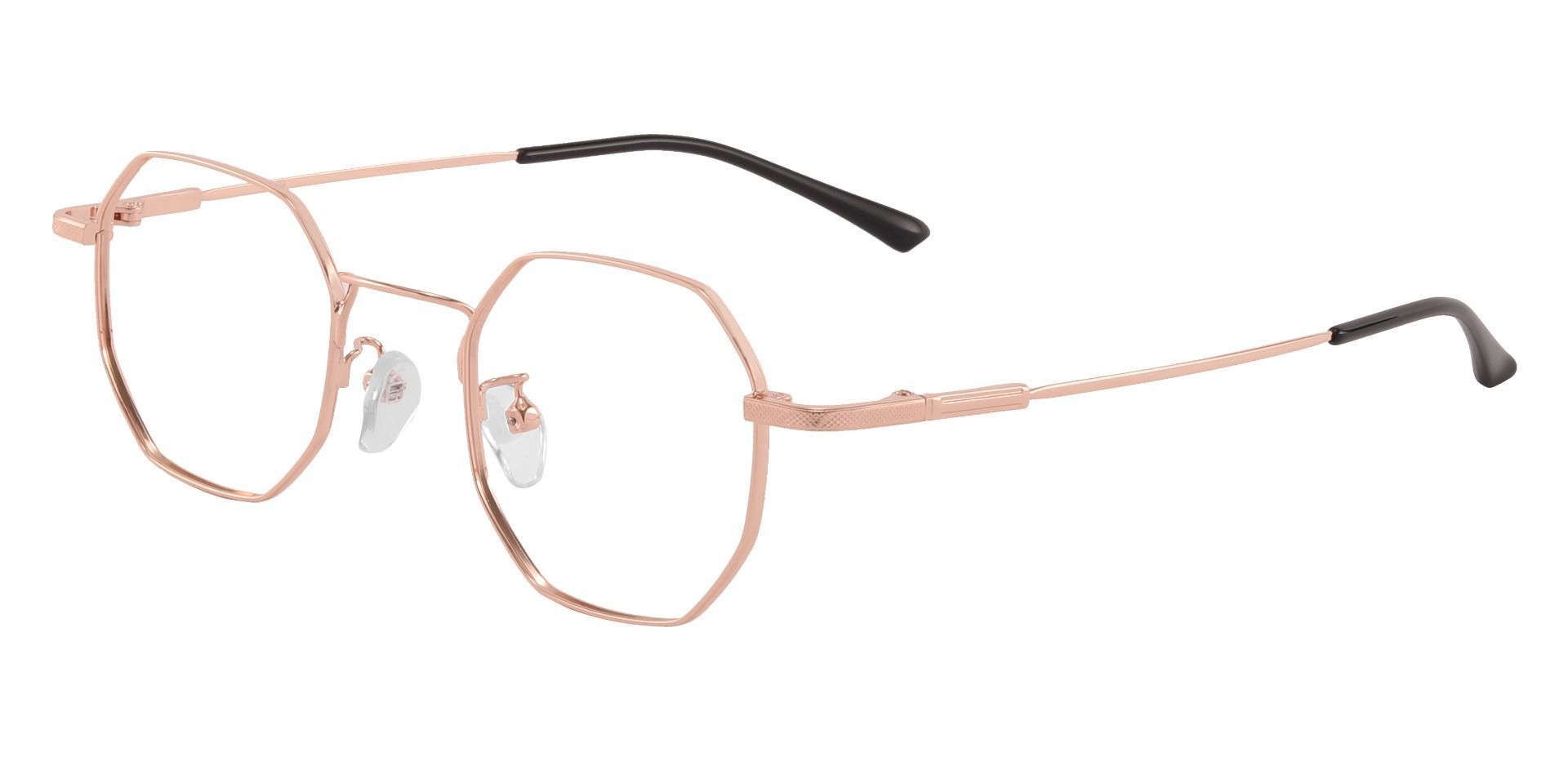 Belgrade Geometric Prescription Glasses - Rose Gold