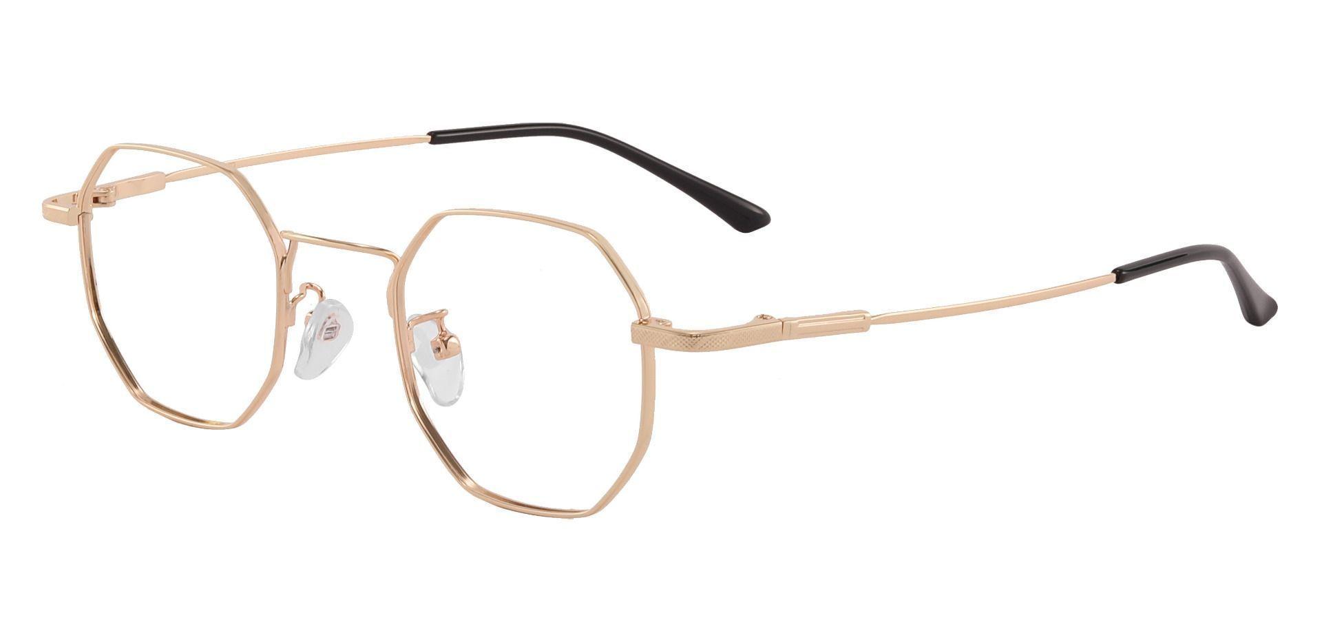 Belgrade Geometric Prescription Glasses - Gold