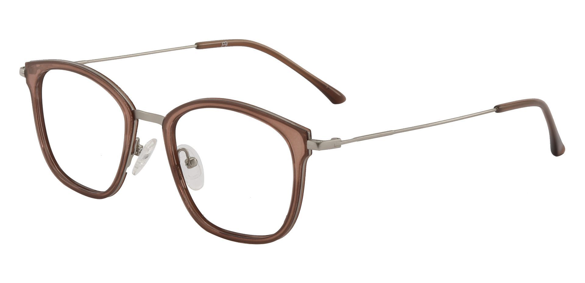 Brooklyn Square Prescription Glasses - Brown