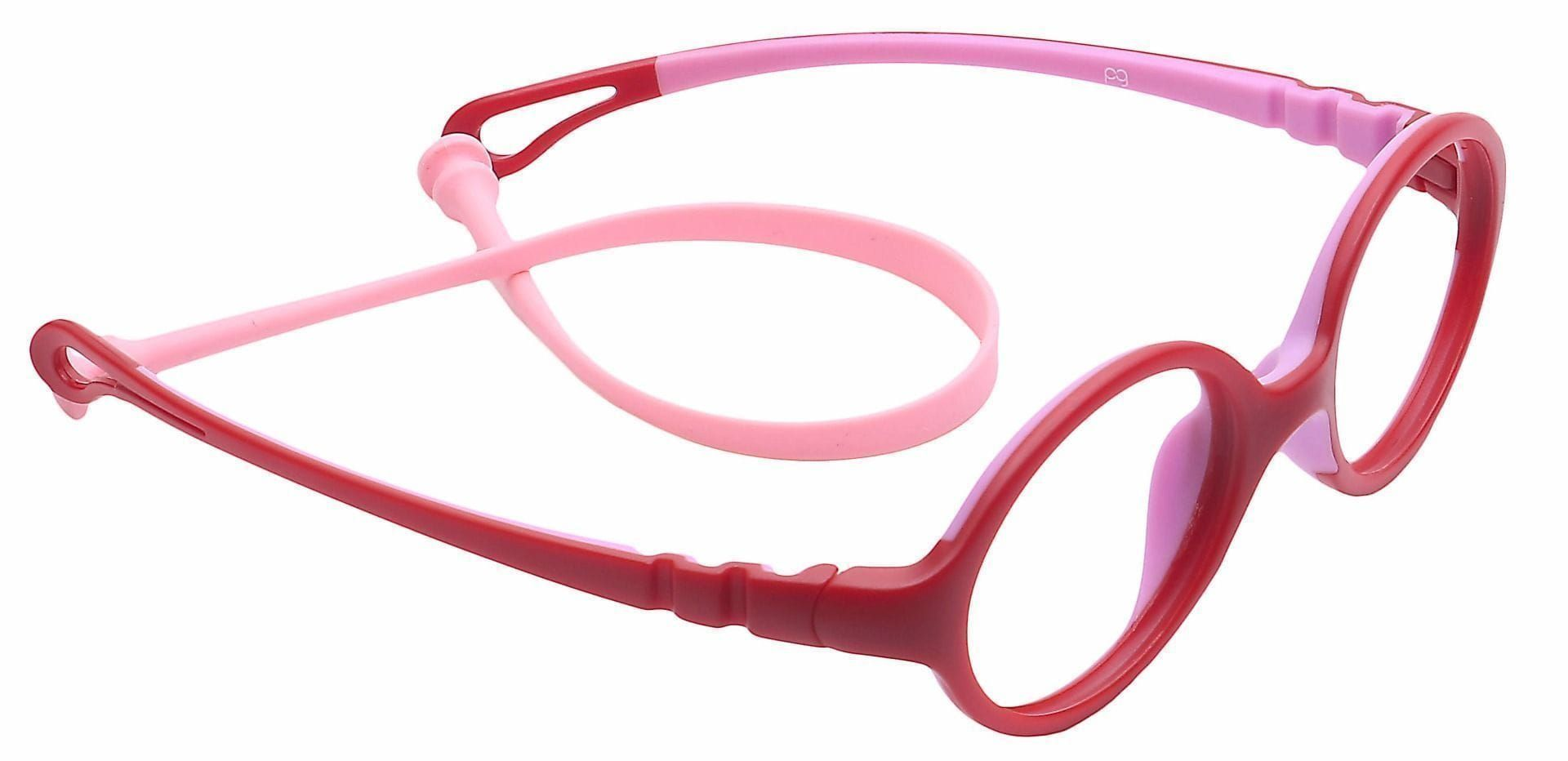 Whimsy Oval Lined Bifocal Glasses - Red
