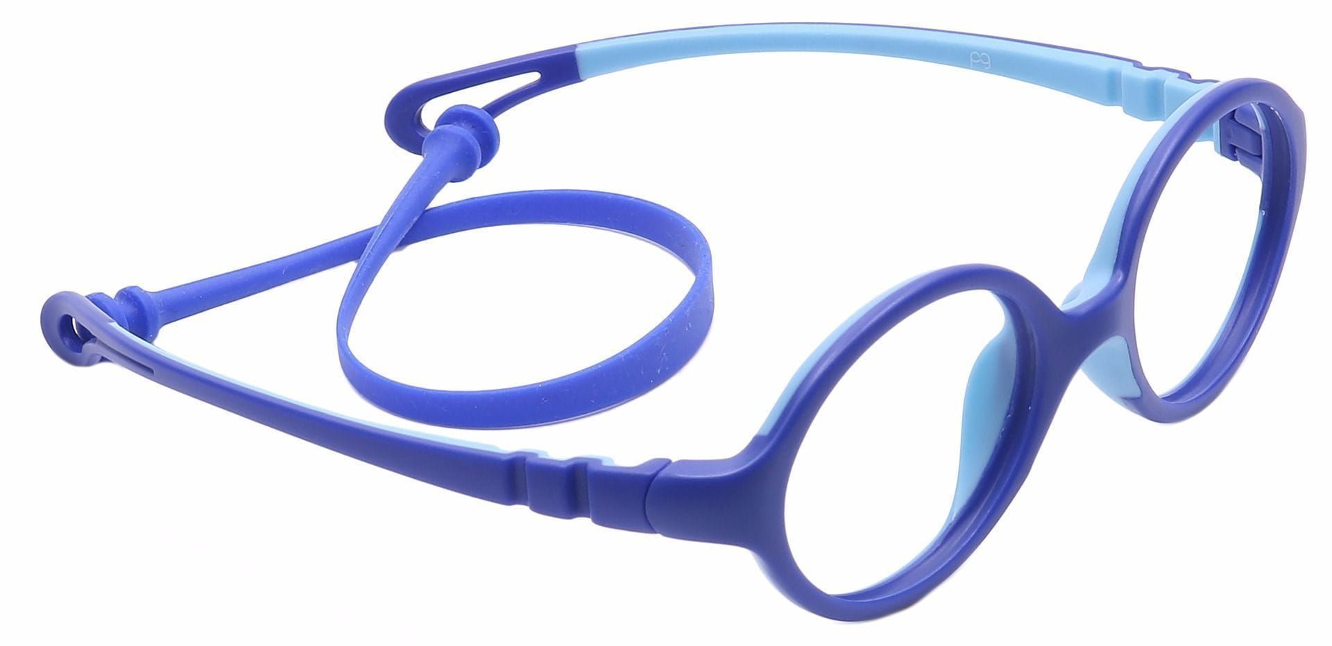 Whimsy Oval Non-Rx Glasses - Blue