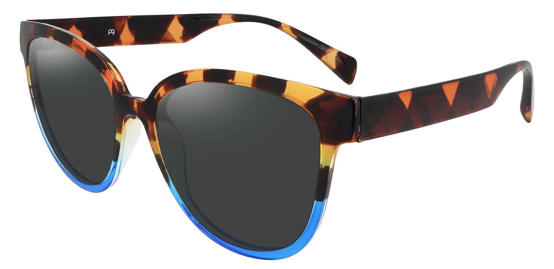 Newport Oval Progressive Sunglasses - Tortoise Frame With Gray Lenses