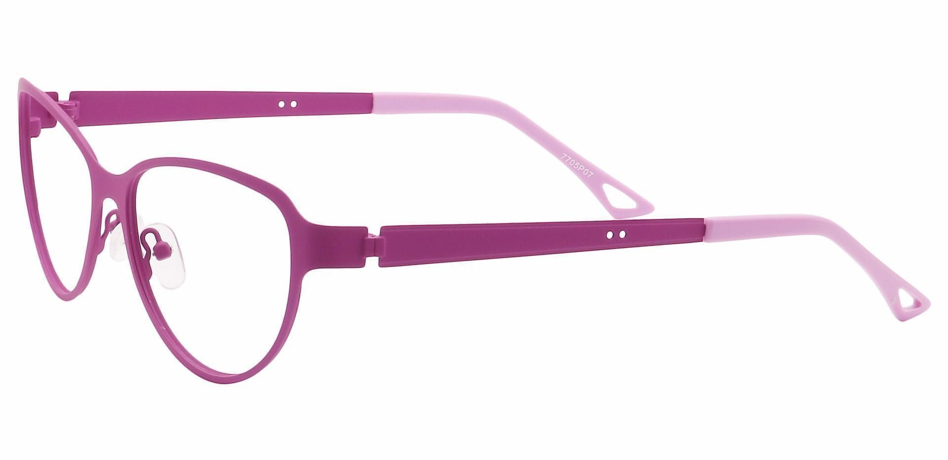 Sierra Cat-Eye Lined Bifocal Glasses - Purple
