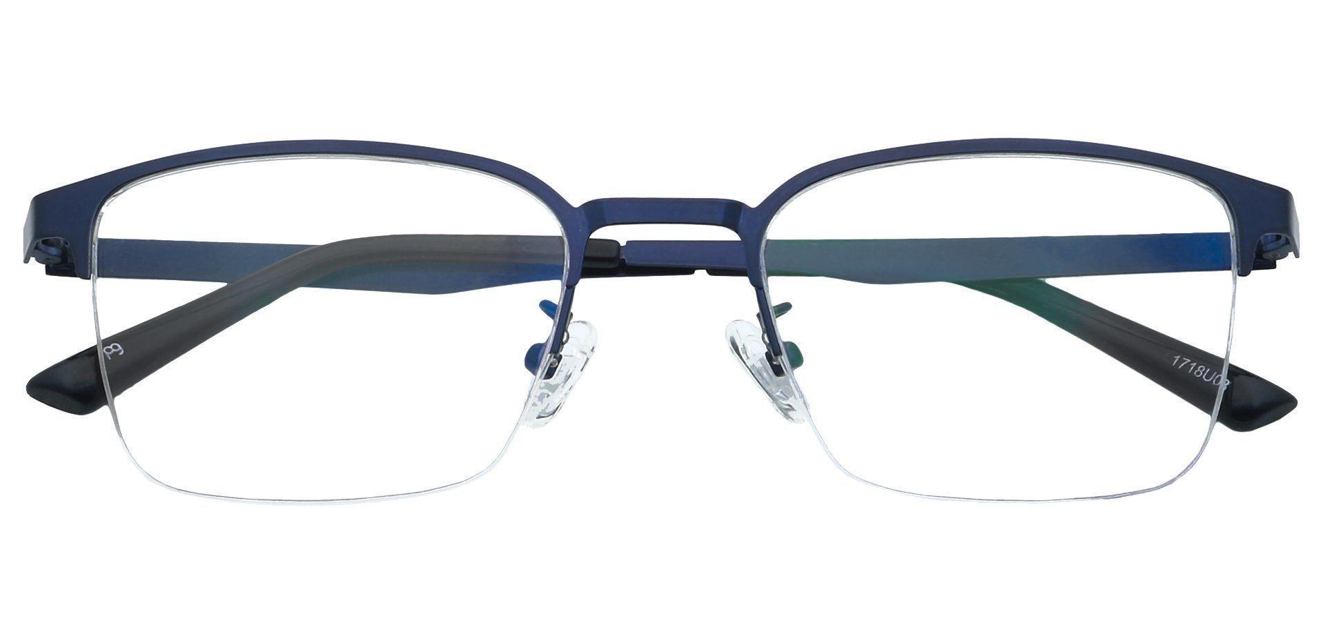 Eden Square Lined Bifocal Glasses - Blue
