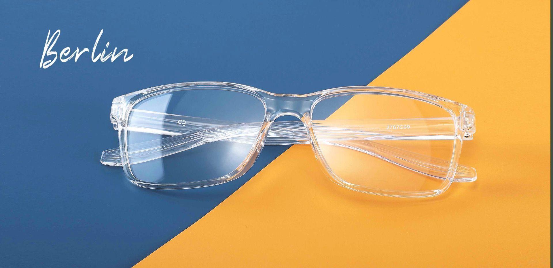 Berlin Rectangle Prescription Glasses - Clear