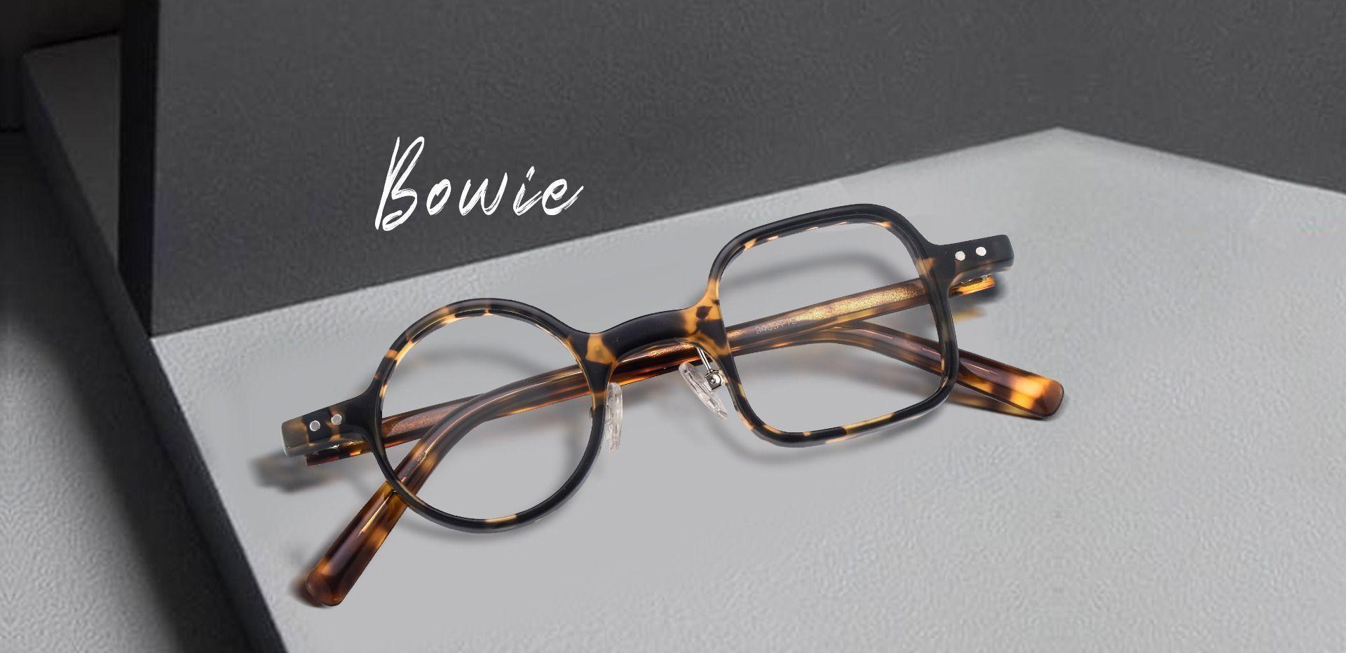 Bowie Geometric Prescription Glasses - Tortoise