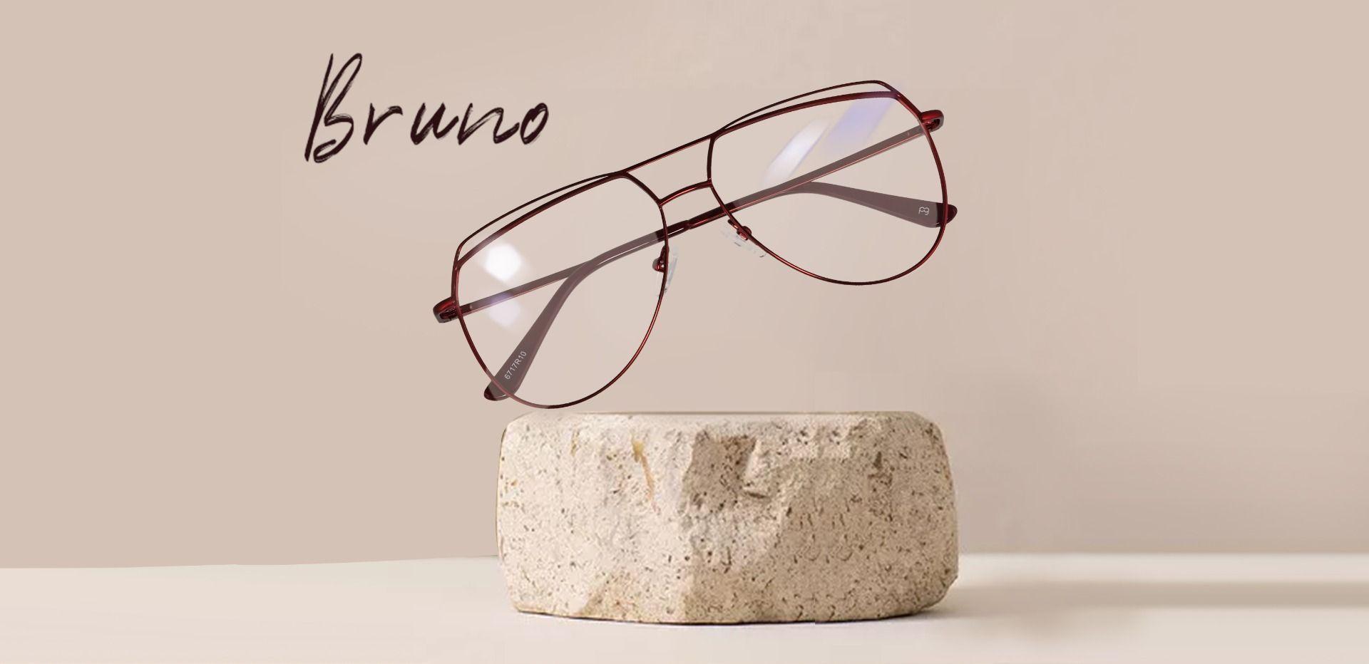 Bruno Aviator Prescription Glasses - Red