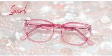 Swirl Classic Square Prescription Glasses - Pink