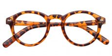 Vee Round Non-Rx Glasses - Lightorange Havana