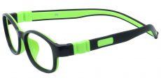 Moxie Oval Single Vision Glasses - Black