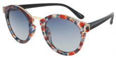 Cadence Oval Red Non-Rx Sunglasses