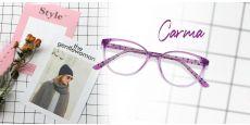 Carma Oval Prescription Glasses - Purple