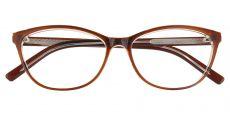 Sally Oval Prescription Glasses - Brown