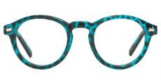 Vee Round Lined Bifocal Glasses - Blue