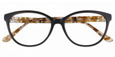 Wisteria Cat Eye Prescription Glasses - Black