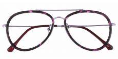 The King Aviator Single Vision Glasses - Purple