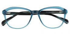 Ansonia Cat Eye Prescription Glasses - Blue