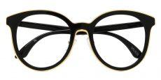 Contour Round Single Vision Glasses - Black