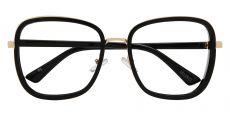 Shimmer Square Single Vision Glasses - Black