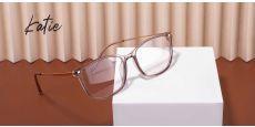 Katie square Prescription Glasses - Clear