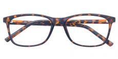 Safita Oval Blue Light Blocking Glasses - Rust Havana