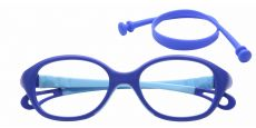 Quirk Oval Blue Light Blocking Glasses - Blue