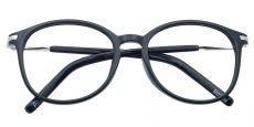 Logan Round Prescription Glasses - Black