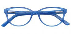 Lulu Oval Prescription Glasses - Blue