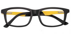 Allegheny Rectangle Prescription Glasses - Black-yellow