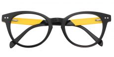 Forbes Oval Prescription Glasses - The Frame Is Black And Gold