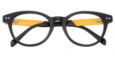 Oakland Oval Prescription Glasses - The Frame Is Black And Gold