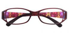 Libra Rectangle Prescription Glasses - Red