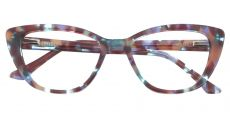 Athena Cat-Eye Prescription Glasses - Floral