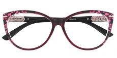 Maggie Cat Eye Prescription Glasses - Red