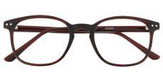 Skye Rectangle Prescription Glasses - Brown