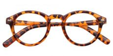 Vee Round Prescription Glasses - Brown