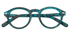 Vee Round Non-Rx Glasses - Blue
