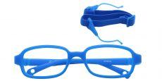 Jamie Rectangle Single Vision Glasses - Blue