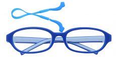 Scoop Oval Single Vision Glasses - Royal Blue/baby Blue