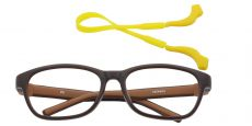 Edison Oval Prescription Glasses - Brown/sienna