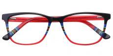 Taffie Oval Prescription Glasses - Red